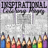 Growth Mindset Coloring Pages | Growth Mindset Posters | Inspirational Coloring