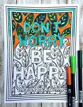 Growth Mindset Coloring Pages | Song Quotes | 20 Fun, Creative Designs
