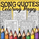 Growth Mindset Coloring Pages | Song Quotes