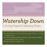 Watership Down Coloring Pages & Listening Notes