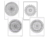Coloring Pages-Mandala Coloring Pages-Set#1