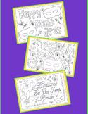 Coloring Pages-Mardi Gras Coloring Pages-Set #1