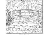 Coloring Pages - Mona Lisa, Japanese Bridge, Sleeping Gyps