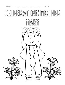 Coloring Pages Mother Mary May Crowning
