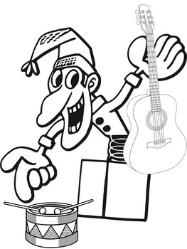 Coloring Pages Music Winter Theme
