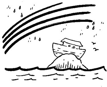 Coloring Pages: Noah and Abraham