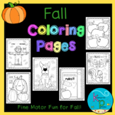 Coloring Pages Pack (Fall Themed)