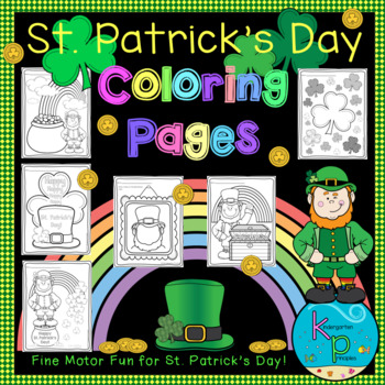 Coloring Pages Pack (St. Patrick's Day Themed)