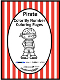Color by Number Math, Pirate Activiitie, Special Education Math,Summer School