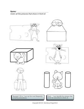 Coloring Pages Prepositions By Dragonela Teachers Pay Teachers