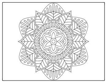 Coloring Pages 10 Mandala Designs Set 2 Perfect for testing week end of year
