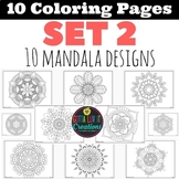 Coloring Pages 10 Mandala Designs Set 2 Perfect for testin