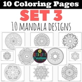 Coloring Pages 10 Mandala Designs Set 3 Perfect for testin