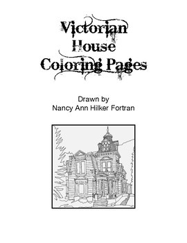 Coloring Pages: Victorian Houses8 by World of Art   TpT
