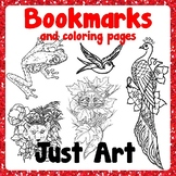 Bookmarks and Coloring Pages - Animals - Just Art