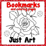 Bookmarks and Coloring Pages - Flowers - Just Art