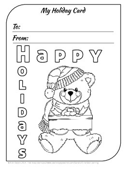 Free Coloring Pages And Holiday Cards For Christmas Hanukkah And Winter