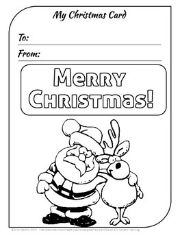 FREE Coloring Pages and Holiday Cards for Christmas, Hanuk