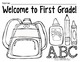 Coloring Pages for Back to School {Pre-K-1 classrooms}