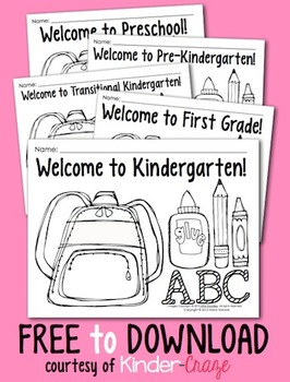 coloring pages for back to school pre k 1 classrooms - First Day Of Preschool Coloring Pages