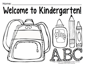 Coloring Pages for Back to School {Pre-K-1 classrooms} by Maria Gavin