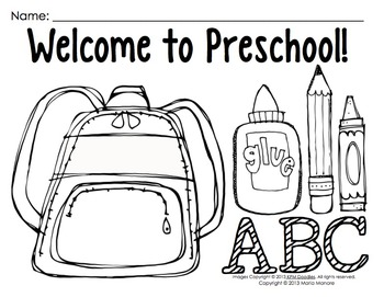 Coloring pages for back to school pre k 1 classrooms by for Back to school coloring pages printable
