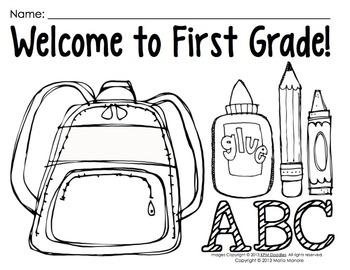 Back To School Coloring Pages For First Grade Extraordinary Coloring Pages For Back To School Prek1 Classroomsmaria Gavin