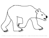 Coloring Pages for Eric Carle's Polar Bear