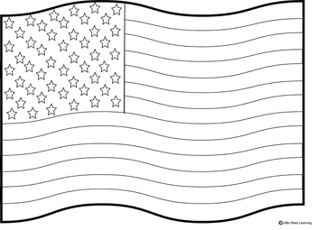 Coloring Pages for Flag Day4th of July by Little Stars Learning