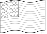 Coloring Pages for Flag Day/4th of July