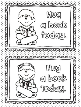 Coloring Pages for Classroom or Library Centers: Reading Motivation FREE