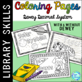 Coloring Pages for Library Centers Dewey Theme