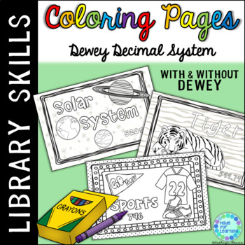 Dewey Decimal Coloring Pages for Library Centers