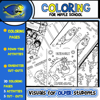 Coloring Pages For Middle School Upper Elementary Kids 30