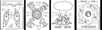 Coloring Pages for Middle School/Upper Elementary Kids! 30 Pages!