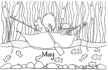 Coloring Pages for Months in a Year