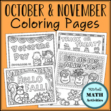 Coloring Pages for October and November