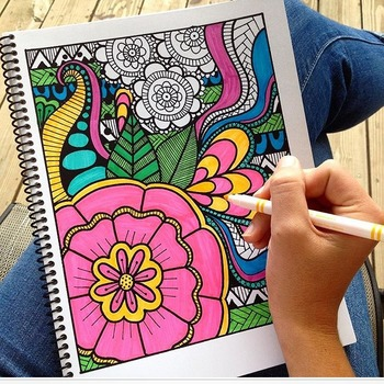 Stress Relief Activity- Coloring Pages Volume 1