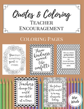 Coloring Pages for Teacher Encouragement