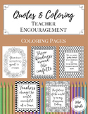 Coloring Pages for Teacher Encouragement