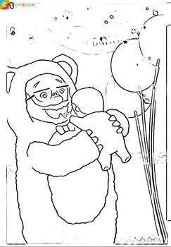 Coloring Pages for the book, Birthday Grandpa and Me by Becca Engelbrecht