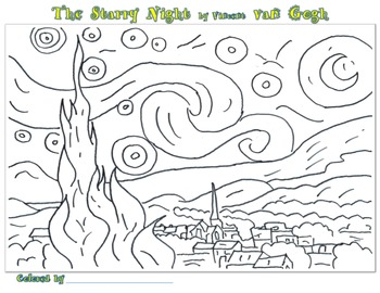 Coloring Pages of Famous Artists 2