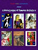 Coloring Pages of Famous Artists 4