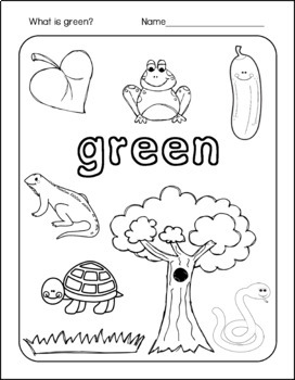 Coloring Pages to Learn the Colors in English and Spanish