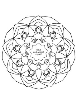 Coloring Pages with Positive Affirmations (12 pages) - Printable, A4, Mindful