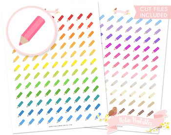 Coloring Pencil Printable Planner Stickers