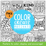 Growth Mindset Colouring Posters {Color Create Motivate} Worksheets