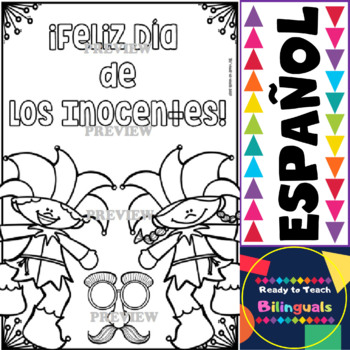Coloring Posters in Spanish - April Set (Perfect for April Calendar Centers)