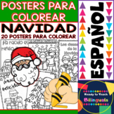 Coloring Posters in Spanish - Christmas - Navidad (20 posters)