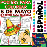 Coloring Posters in Spanish - Cinco de Mayo
